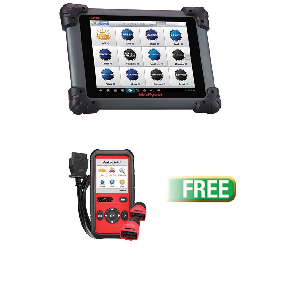 MaxiSYS MS908cv Commercial Vehicle Diagnostics Tool w/FREE HD Auto Link